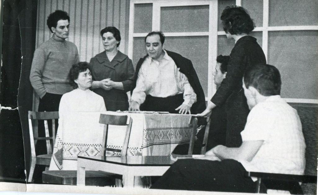 Выступление Нарьян-Марского народного театра, 1965 год