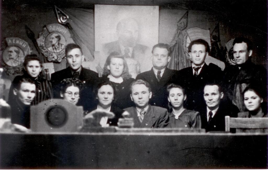 Члены бюро горкома ВЛКСМ, 1951 год