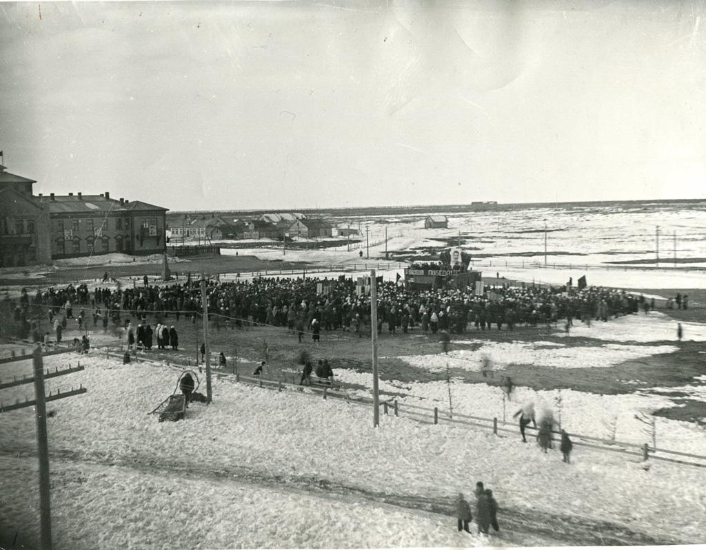 День Победы в Нарьян-Маре, 9 мая 1945 г.