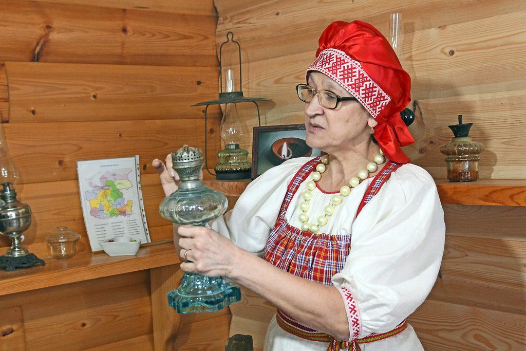 В музее света в деревне Кошкино