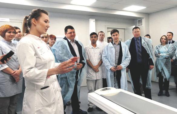 Открытие кабинета компьютерной томографии, март 2020-го