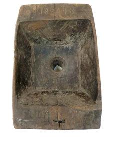 Деревянная воронка для заливки скипидара в бочки, датированная 1824 годом