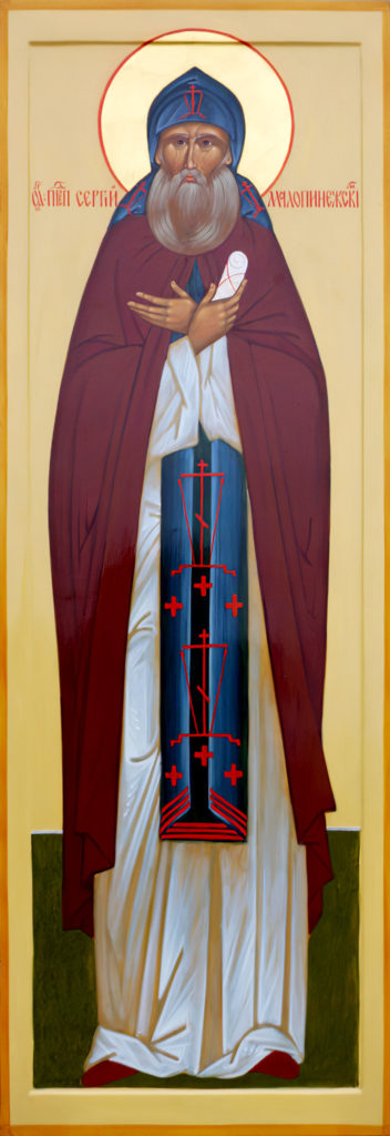 ВВерхнетоемском храме находится житийная икона преп. Сергия Малопинежского, тамже планируется устроить придел спрестолом вего честь. Раз вдва года врайоне проводятся Сергиевские чтения ифестиваль его имени