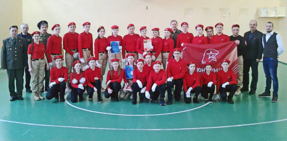 Победители в районном Параде юнармейцев, 2020 г.