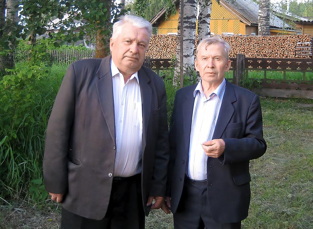 С братом Александром Васильевичем Лагуновым – судостроителем, Героем Социалистического труда. 2009 год