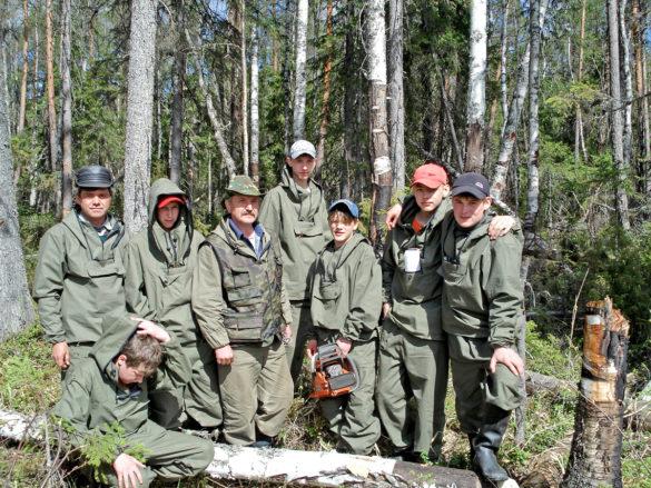 Учебная практика будущих мастеров по лесному хозяйству на базе учебного леса