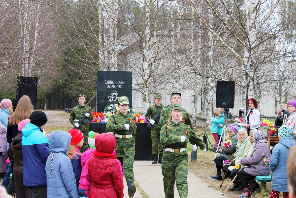 Традиция школы — организация митинга в день победы