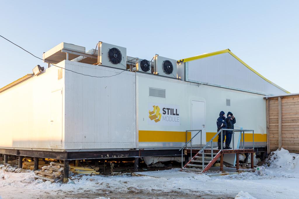 Новый модульный убойный пункт СПК «Путь Ильича» впоселке Харьягинский. Это один из крупнейших пунктов вРоссии