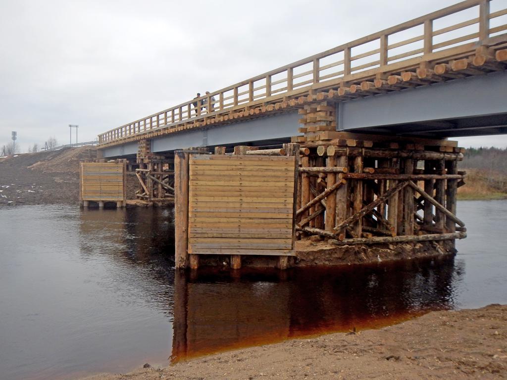 Мост через Лепшу после ремонта в ноябре 2017 года