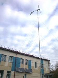 Ветро-солнечная энергетическая установка