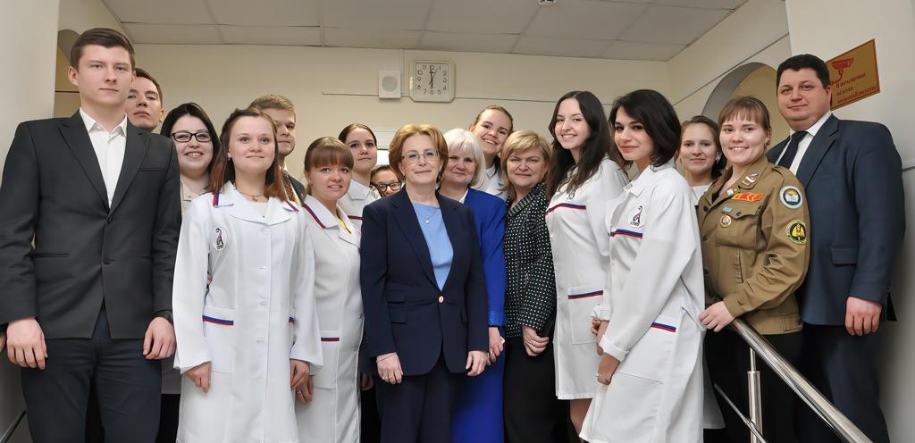 С федеральным и областным министрами здравоохранения Вероникой Скворцовой и Антоном Карпуновым