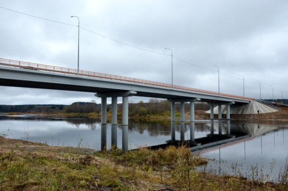 Новый мост у поселка Советский вУстьянском районе