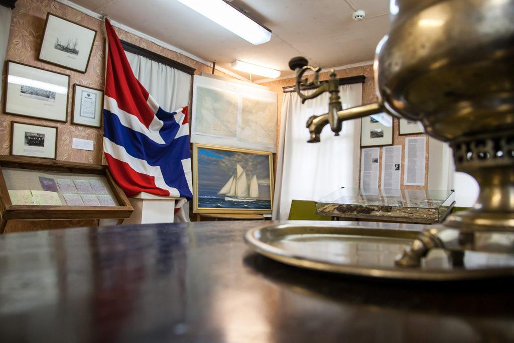 Норвежцы подарили свой флаг дому Александра Кучина