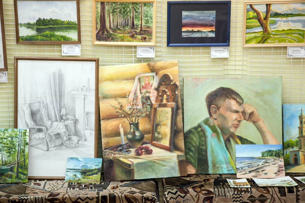 В творческом багаже —и портреты, и пейзажи