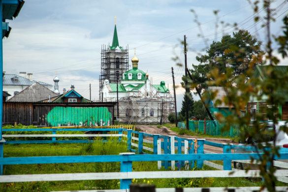 На Свято-Никольском храме недавно обновили купола
