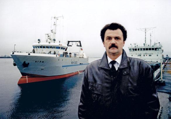 1998 год. Первый приход траулера «Ягры» в порт Архангельск после проведения ходовых испытаний в Белом море