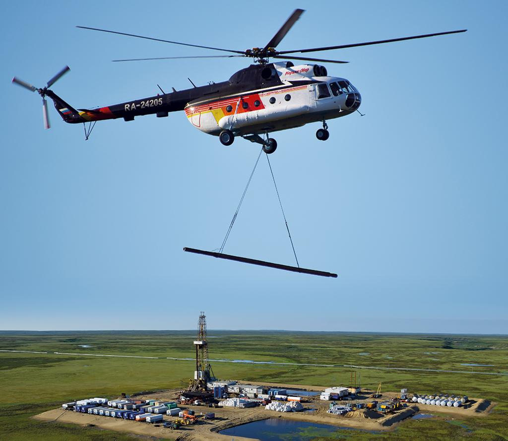 Работа пилотов на Харьягинском нефтяном месторождении