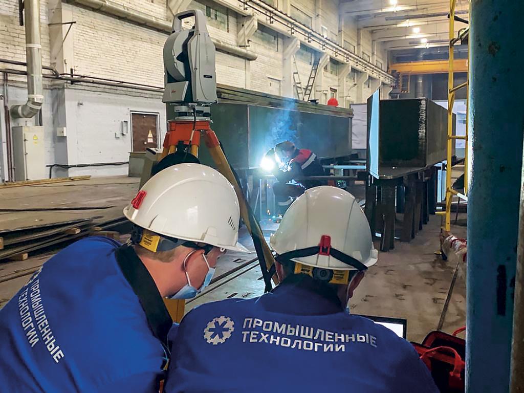 Применение высокоточных бесконтактных методов измерений при сборке металлоконструкций
