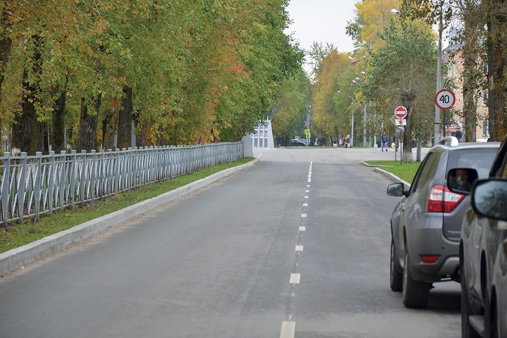 Обновленная улица в Новодвинске