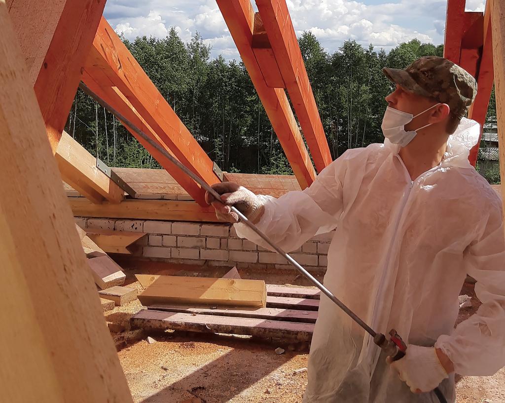 Огнезащитная обработка строительных конструкций