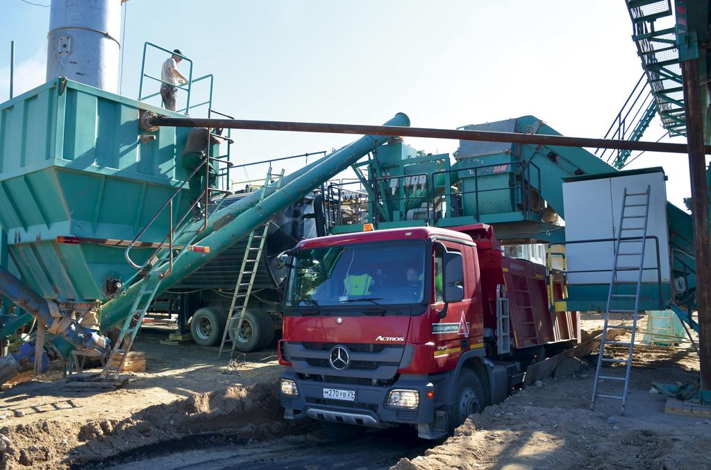 160 тонн смеси в час — производительность асфальтобетонного завода