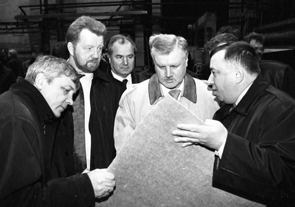 Виталий Фортыгин, Анатолий Ефремов, Сергей Миронов и Николай Львов на СЦБК