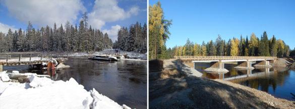 Мост через р. Ежуга был сдан на два месяца раньше срока.Финансирование велось врамках соглашения, заключённого между правительством Архангельской области иГК«Титан».