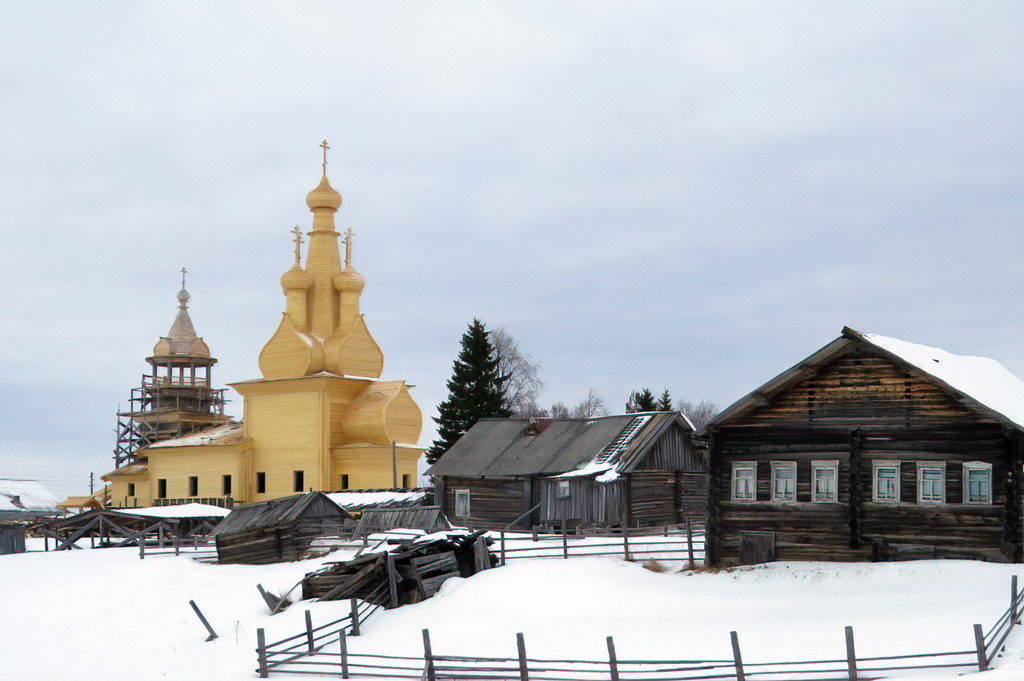 Реставрация Одигитриевской церкви 1763 года постройки.