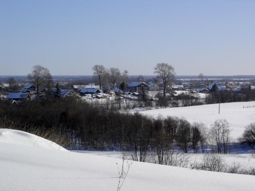 Евдские деревни в долине. Зима