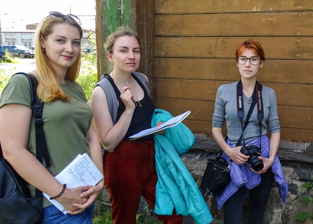 Напрактику вНяндому приехали студенты питерского архитектурно-строительного университета
