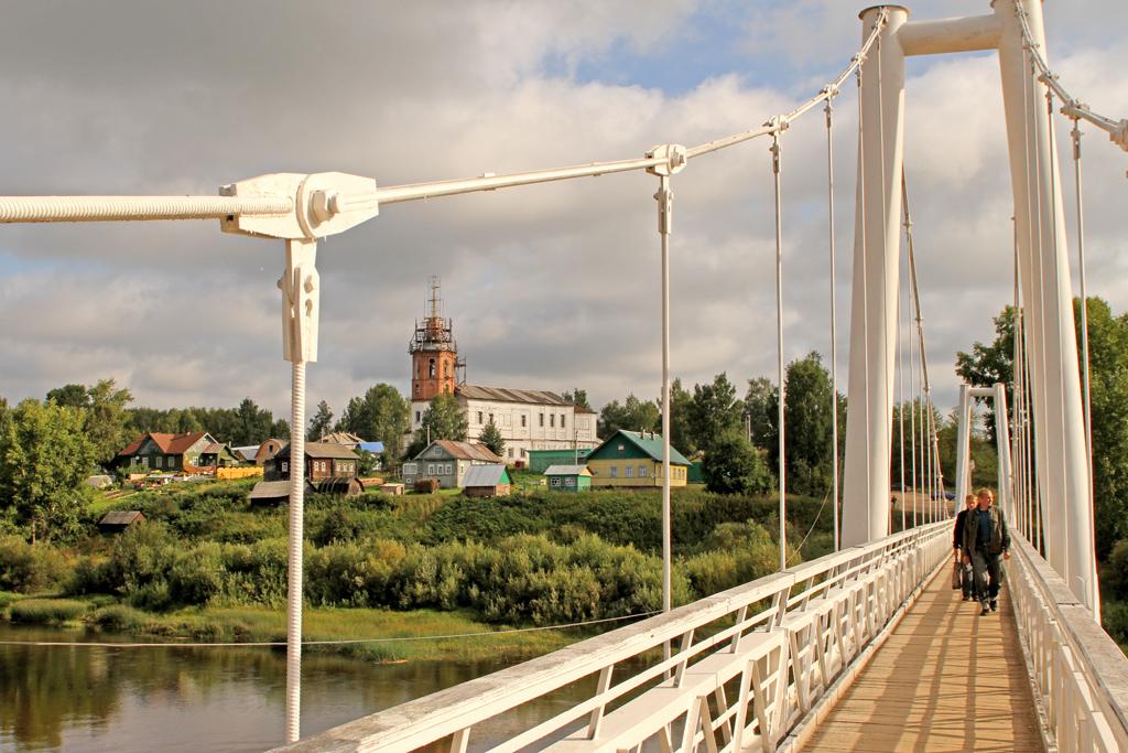 Подвесной мост — достопримечательность Ильинско-Подомского