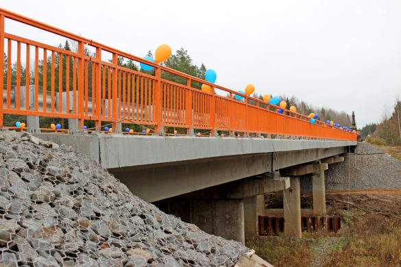 На трассе Усть-Вага — Ядриха отремонтирован капитальный мост через речку Шужега