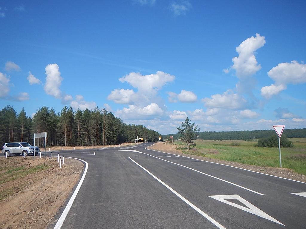 Реконструированный участок Северного транспортного коридора.