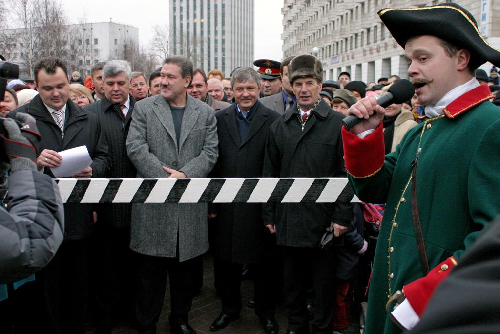 Мэр Архангельска А. Донской, В. Войков, В. Крупчак,