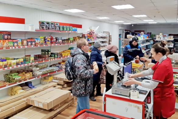 Магазин в поселке Усть-Кара