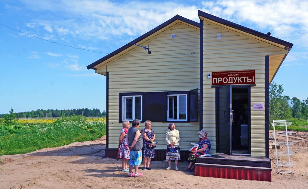 Новый магазин в деревне Абрамовской
