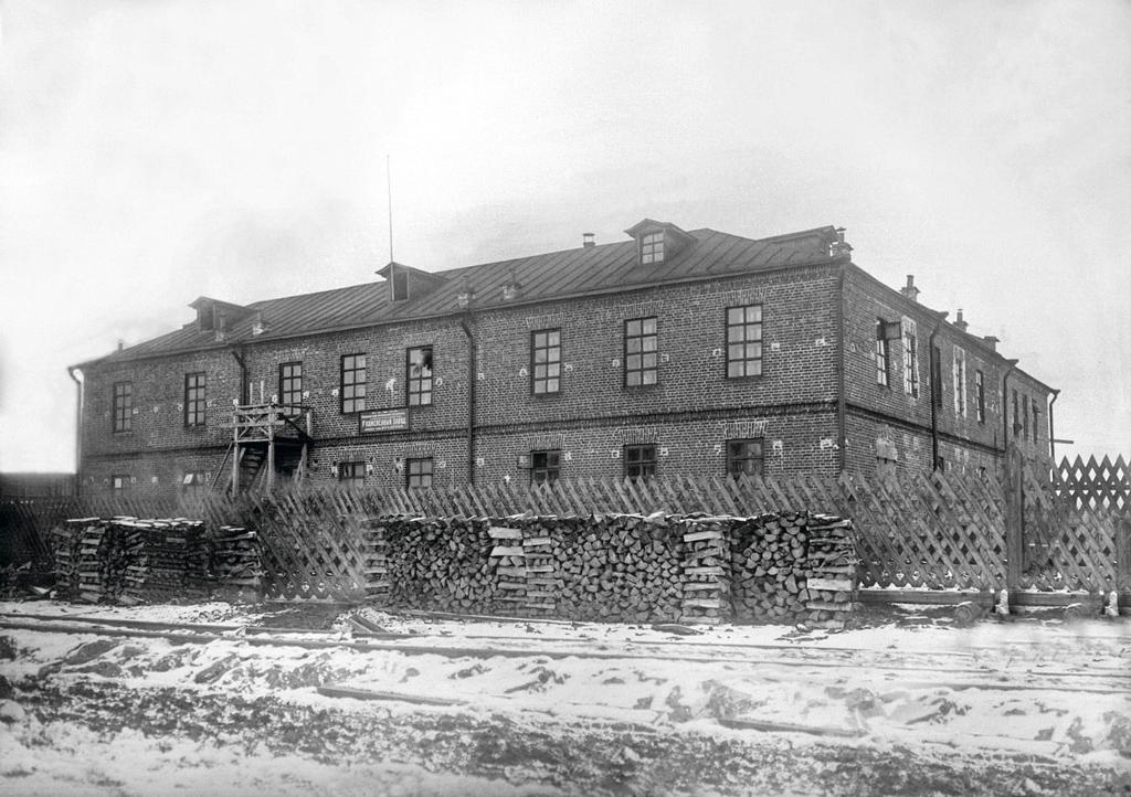 1926 год. Кожевенный завод вАрхангельске между улицами Первомайской иКрасной Звезды