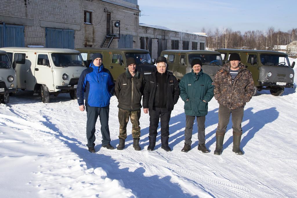 Механик Дмитрий Елезов, водители Игорь Блинов, Василий Стенин, Дмитрий Юдин, Николай Байбородин