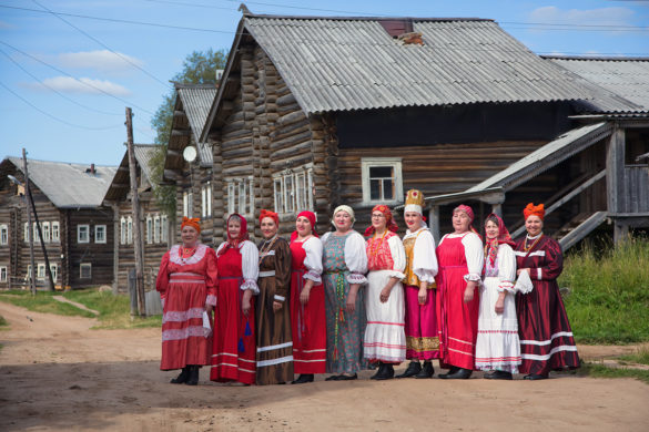 Участницы Кимженского фольклорного хора— опора иядро ТОСа